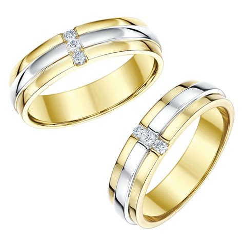 matching silver wedding ring sets for him and