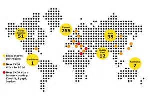 World Map Ikea by Ikea Store Locations 2014 Ikea 174 2014