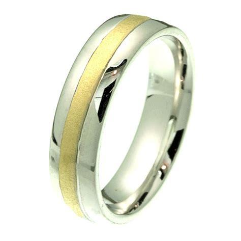 2102241pe platinum gold comfort fit wedding band