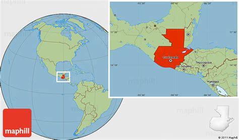 guatemala on world map guatemala map world