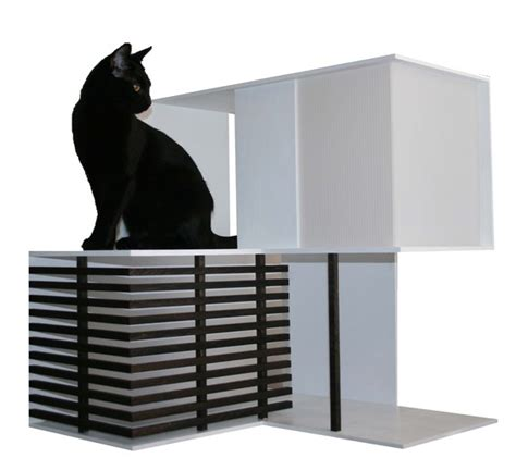 modern cat house custom modern wooden cat houses by domesticatdesign on etsy