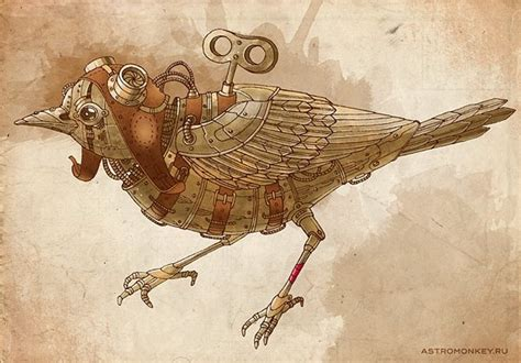 Mechanical Decor quot steampunk bird quot by natalia tyulkinaon steampunk