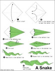 How To Fold A Paper Flower - snake easy origami instructions for kids