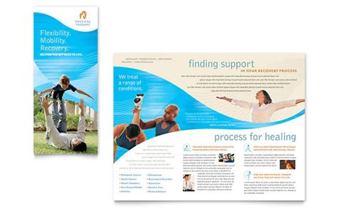 gratis desain leaflet physical therapist brochure template design
