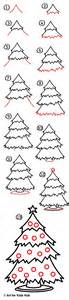 how to draw a christmas tree art for kids hub