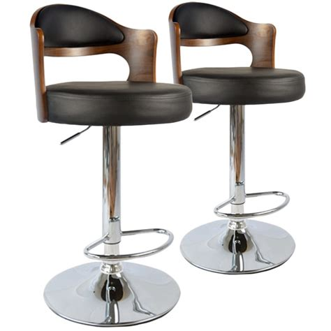 Chaise De Bar Vintage by Chaises De Bar Vintage Bois Noisette Noir Lot De 2 Pas