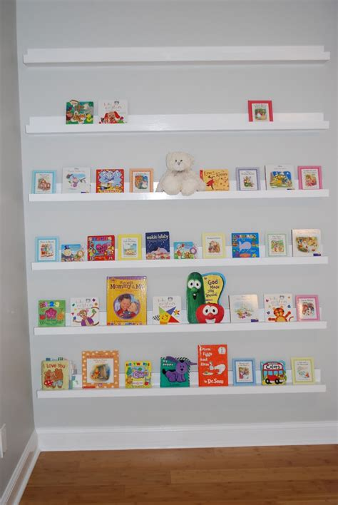 Ana White Nursery Room Book Shelves From 10 Ledge Plan Bookshelves For Nursery