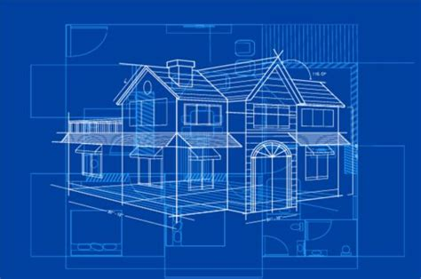 Blue Print Of House by Simple Blueprint Building Vectors Design 05 Vector