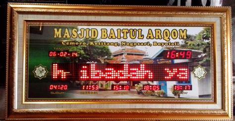 Jadwal Kirim Kirim siap kirim jam digital masjid waktu sholat ke denpasar