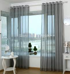 Gray Sheer Curtains Europe And Simple Ready Gray Curtain Sheer Voile Organza Balcony Window Curtain For Living Room