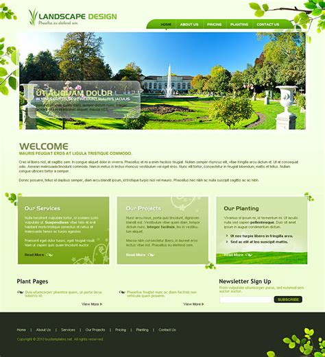 page layout css landscape professional css templates for landscape design
