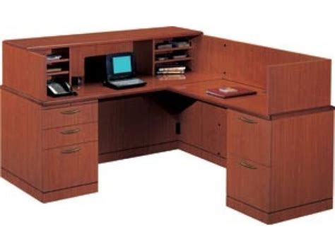 R Reception L Shaped Office Desk Full Pedestal Vtl 2600r L Shaped Reception Desk