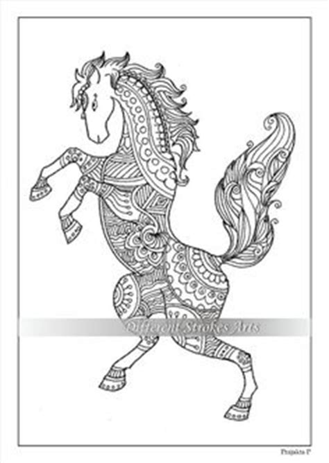 intricate horse coloring pages zentangle horse by kelly bevan adult colouring animals