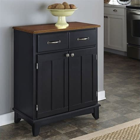 kitchen server furniture furniture buffet server in black and cottage oak 5001 0046