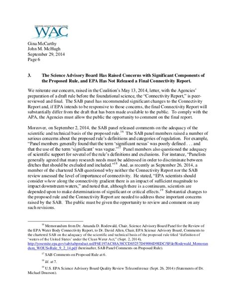 Withdrawal Letter Before coalition letter urging withdrawal of epa corps waters of