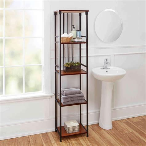 ava bathroom furniture ava bathroom collection 5 tier linen shelf oil rubbed