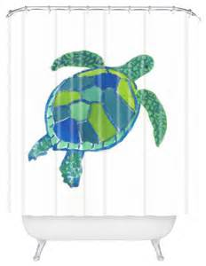 Turtle Shower Curtains Trevey Sea Turtle Shower Curtain Style Shower Curtains By Deny Designs