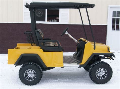 Jeep Golf Cart 2014 Jeep Golf Cart Custom Golf Cart With A Jeep B In Acme