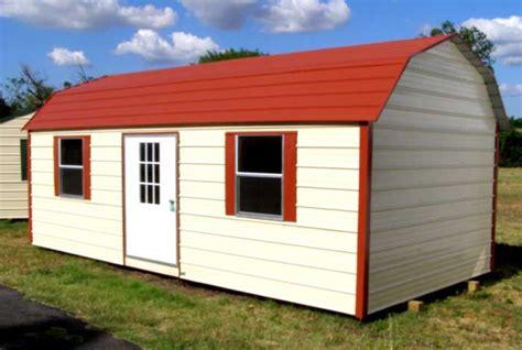 Portable Steel Buildings Portable Gambrel Style Metal Building