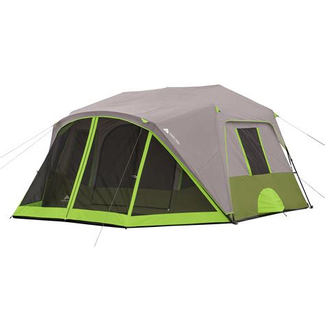 Trail Pop Up Awning Ozark Trail 9 Person 2 Room Instant Cabin Tent With Screen