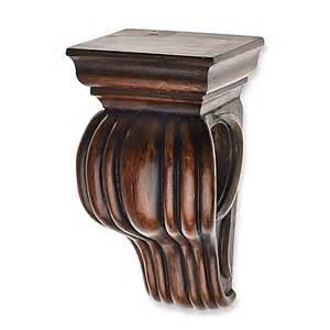 buy cambria 174 classic wood drapery sconce in brown