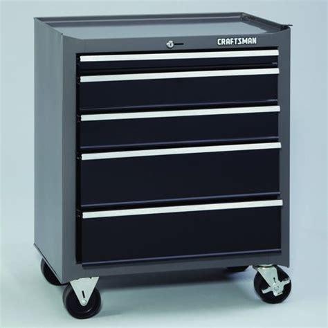 sears 8 drawer tool box craftsman 26 quot wide 5 drawer basic bottom chest platinum