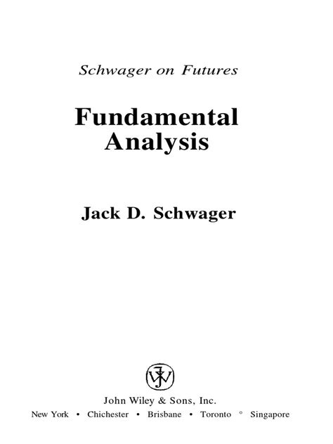 Jack Schwager on Fundamentals for Futures | Regression