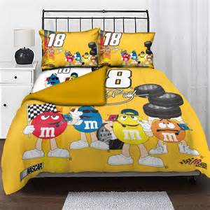 Boy Toddler Bedding Sets Kyle Busch 18 Nascar Twin Comforter Set With 2 Shams 63 Quot X 86 Quot