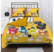 Kyle Busch 18 NASCAR Twin Comforter Set With 2 Shams 63 X 86