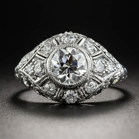 edwardian  carat diamond platinum engagement ring