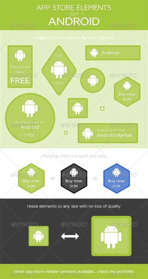 appstore app for android app store elements for android graphicriver