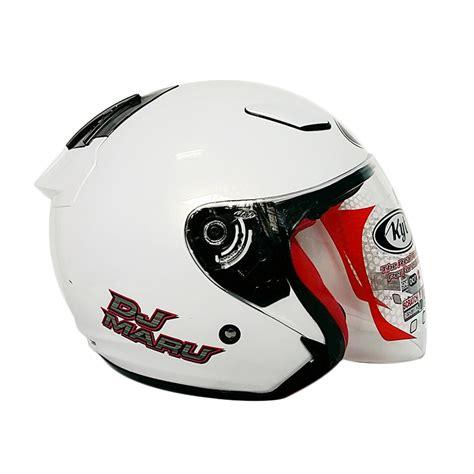 Kyt Dj Maru Seri 9 White helm kyt termurah dj maru solid color