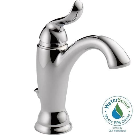 delta single hole 1 handle chrome specialty bathroom sink delta linden single hole single handle bathroom faucet in