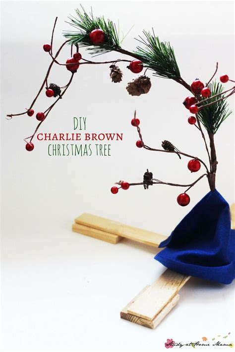 diy charlie brown christmas tree sugar spice and glitter