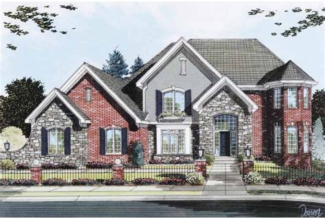 Brick House Plans by House Plans Stone Brick Exterior