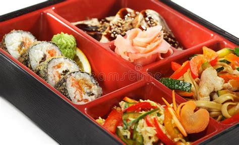cuisine japonaise d 233 jeuner de bento photographie stock