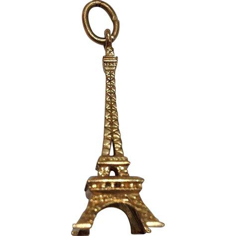 Charm Eiffel gold eiffel tower charm 14k sold on ruby