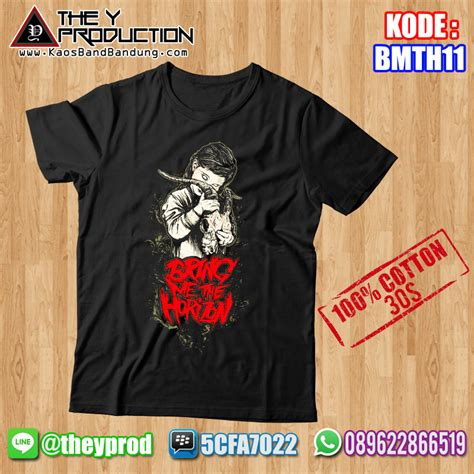 kaos bring me the horizon bmth11 kaosbandbandung