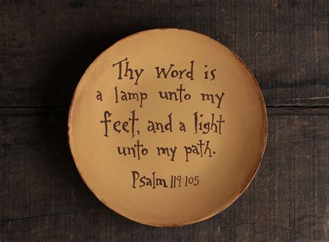 Thy Word Is A L Unto by Thy Word Is A L Unto Plate The Patch