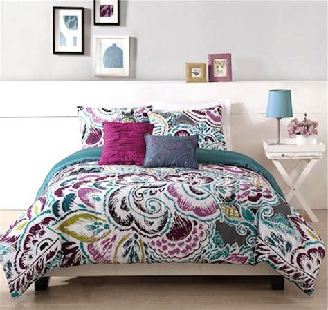 teen queen comforter modern purple blue teen girl bedding twin full queen king