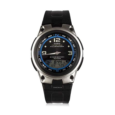 Tali Jam Tangan Casio Aw 82 jual casio fishing gear aw 82 1a sports jam tangan pria