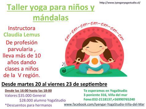 tutorial de yoga para niños taller de yoga para ni 241 os y mandalas terapeutas de chile