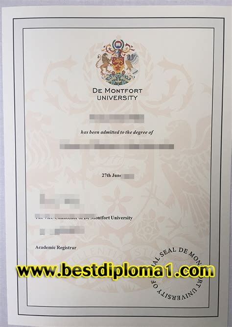 De Montfort Mba Review by De Montfort Diploma Buy De Montfort