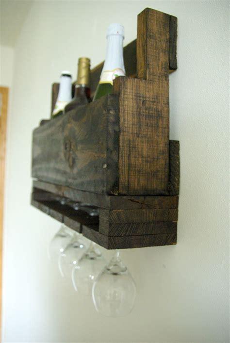 DIY Wall-Mounted Wine Racks Made Of Pallets Diy Magazine Racks