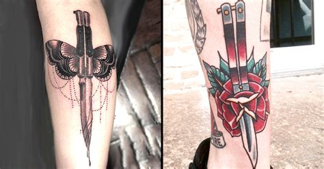 butterfly knife tattoo designs some butterfly knife tattoos to cut through your mind