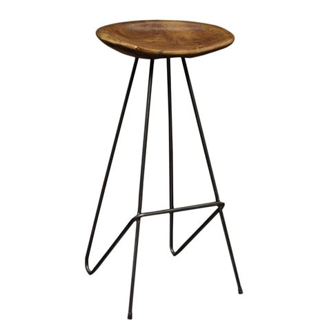 perch bar stool reclaimed teak iron perch stool chairs stools