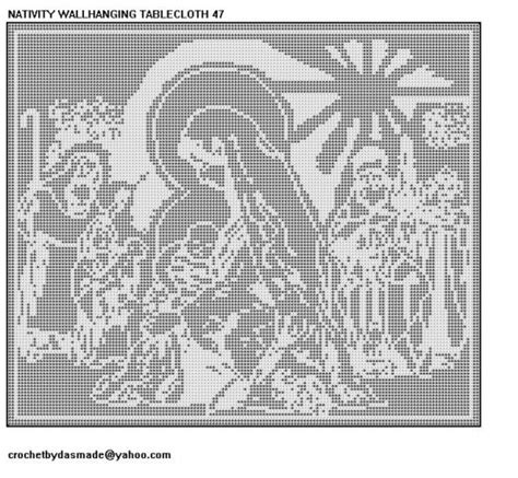 filet crochet patterns for home decor nativity christmas wallhanging filet crochet pattern 47