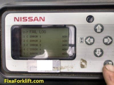 nissan forklift error codes reading codes on dash of nissan forklift fixaforklift