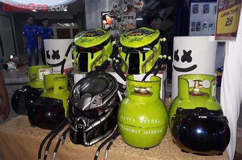 Helm Gojek By Iphank Popo unik sering disangka gas elpiji 3 kg segini harga helm