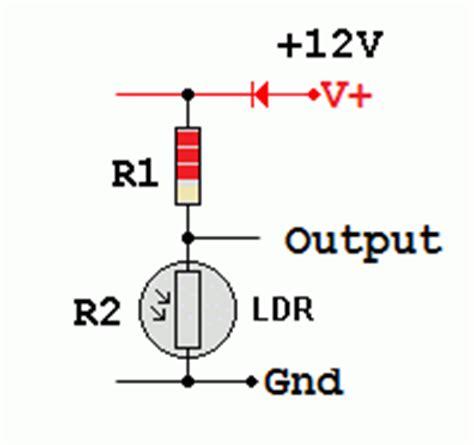 light dependent resistor voltage divider ldr
